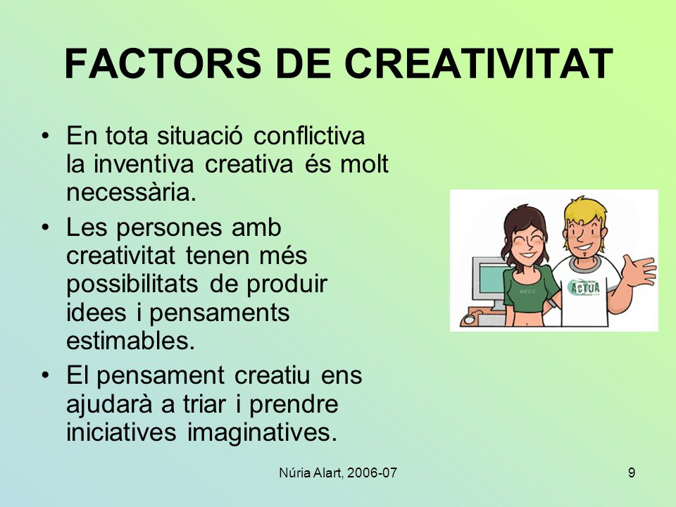 FACTORS DE CREATIVITAT