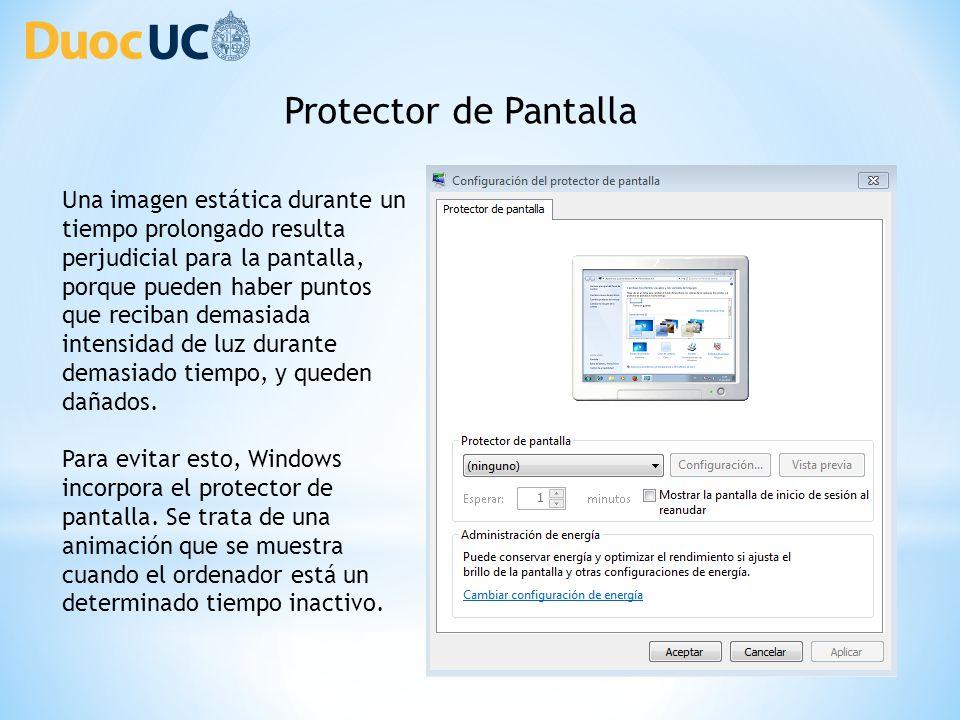 Entorno de Windows 7 Personalizar la apariencia de nuestro sistema ...