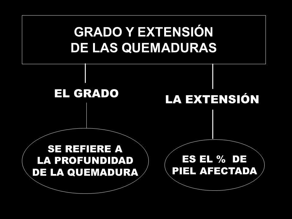 GRADO Y EXTENSIÓN DE LAS QUEMADURAS