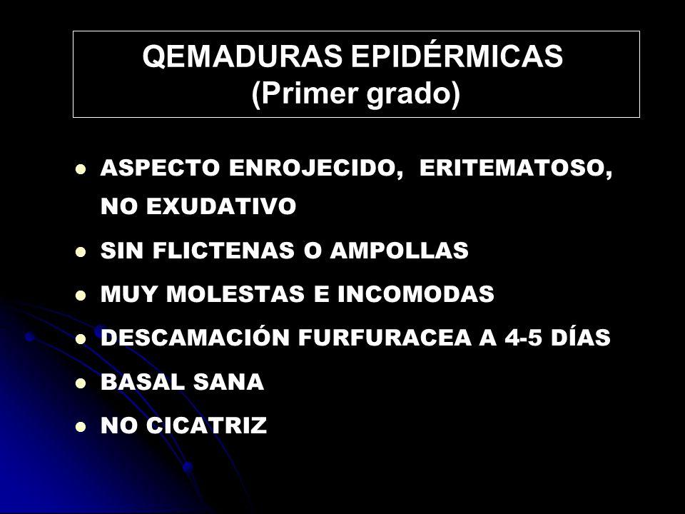 QEMADURAS EPIDÉRMICAS