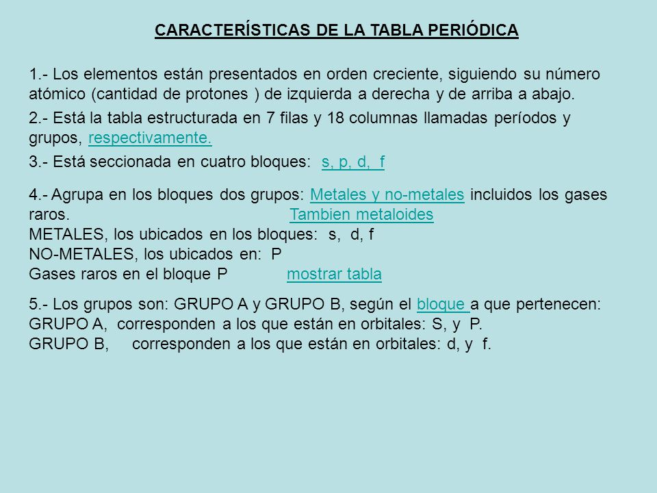 Historia de la tabla peridica ppt video online descargar caractersticas de la tabla peridica urtaz Choice Image