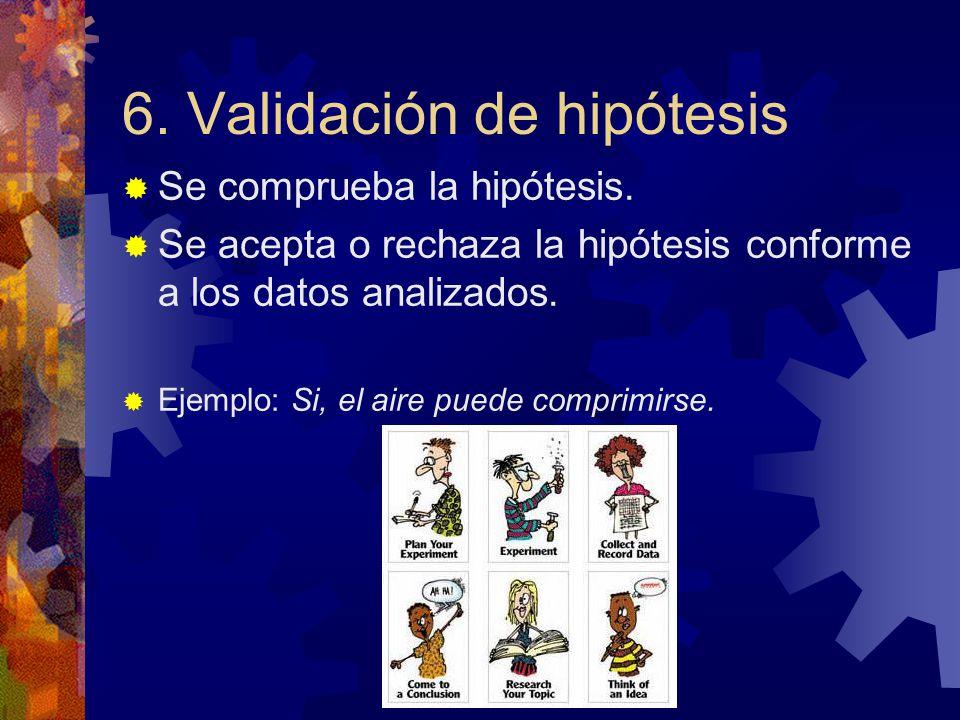 6. Validación de hipótesis