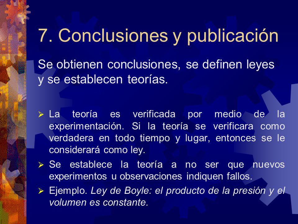 7. Conclusiones y publicación