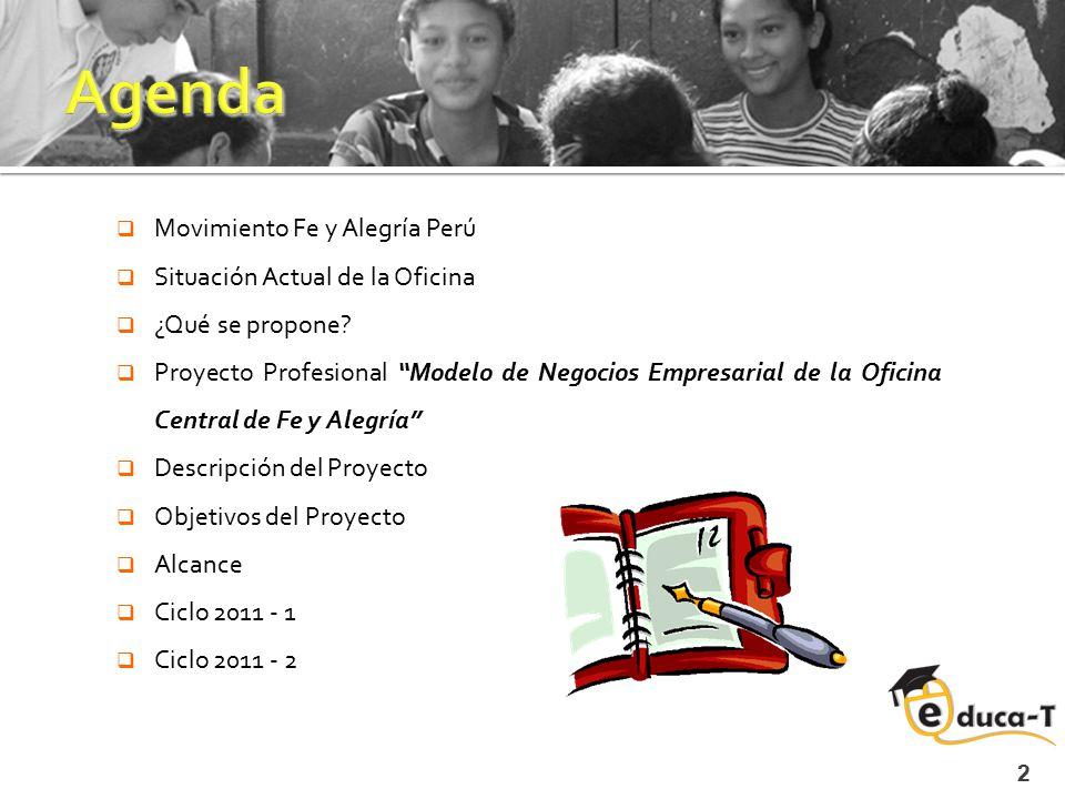 Agenda Movimiento Fe y Alegría Perú Situación Actual de la Oficina