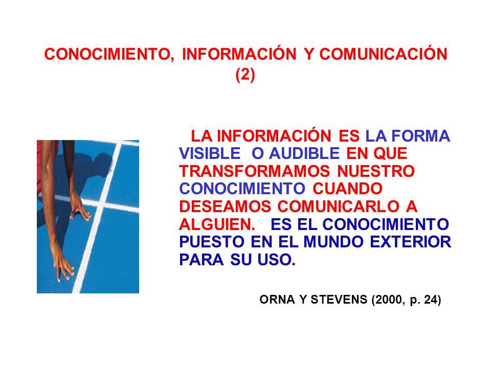 CONOCIMIENTO, INFORMACIÓN Y COMUNICACIÓN (2)