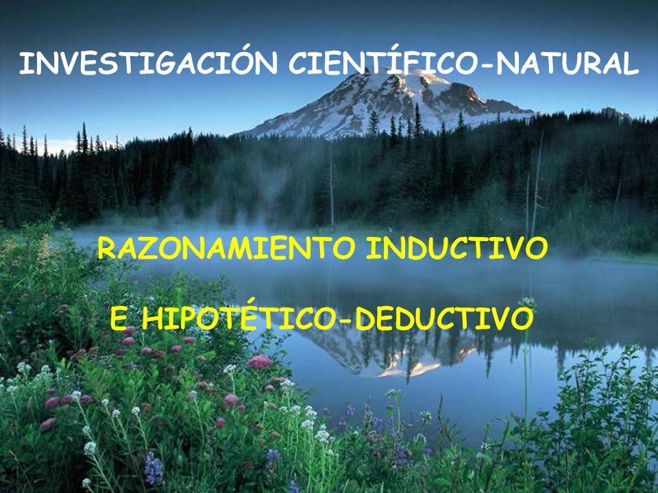 INVESTIGACIÓN CIENTÍFICO-NATURAL