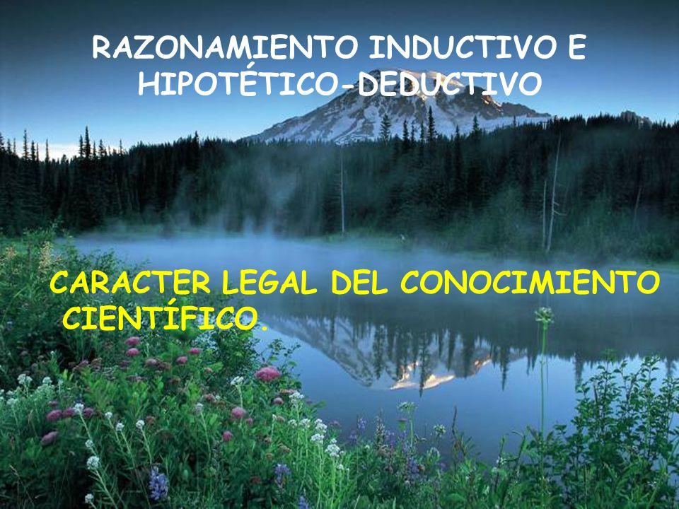 RAZONAMIENTO INDUCTIVO E HIPOTÉTICO-DEDUCTIVO
