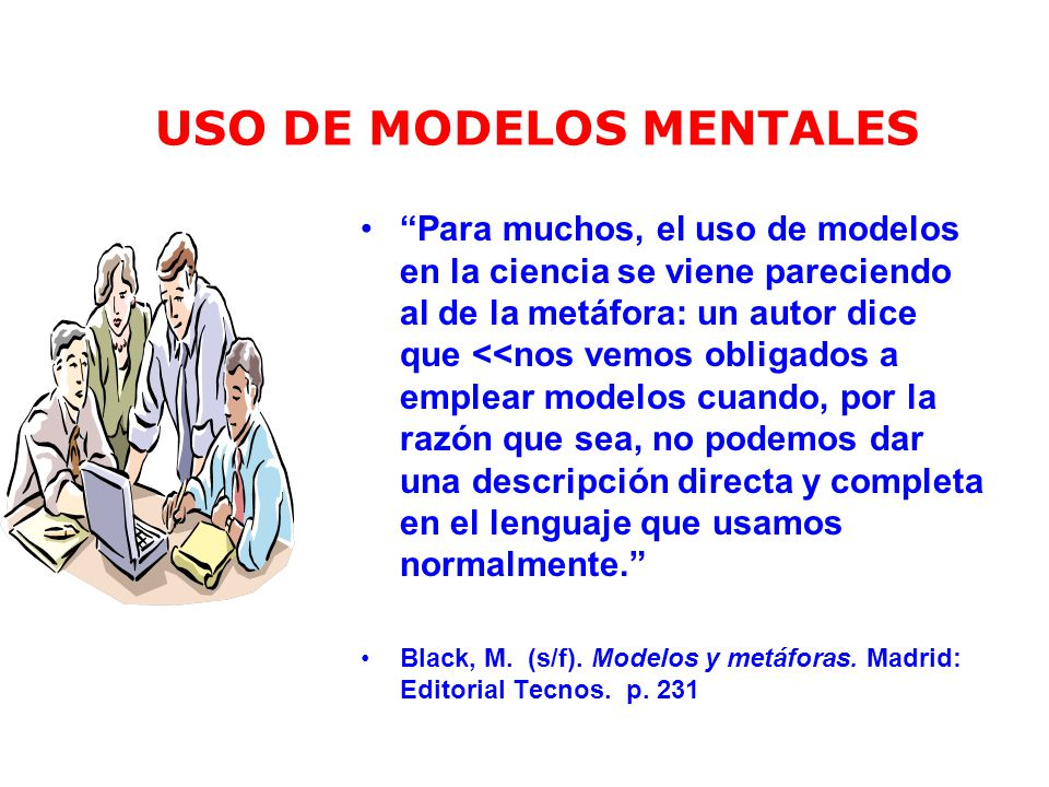 USO DE MODELOS MENTALES