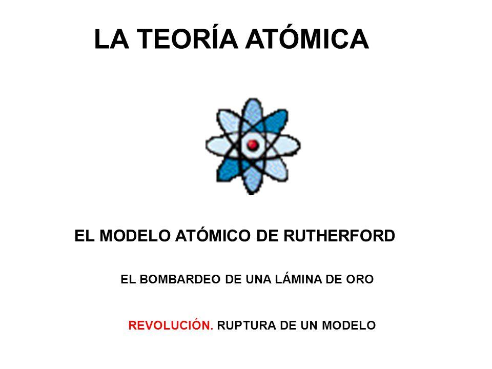 LA TEORÍA ATÓMICA EL MODELO ATÓMICO DE RUTHERFORD