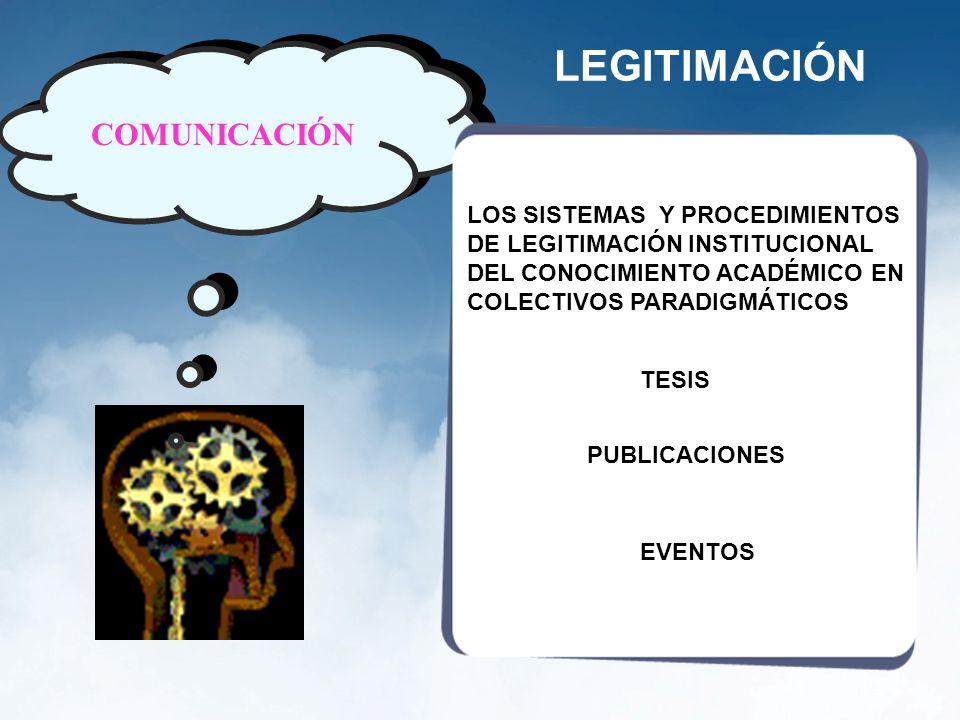 LEGITIMACIÓN COMUNICACIÓN LOS SISTEMAS Y PROCEDIMIENTOS