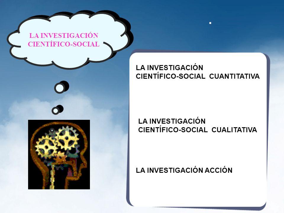 LA INVESTIGACIÓN CIENTÍFICO-SOCIAL