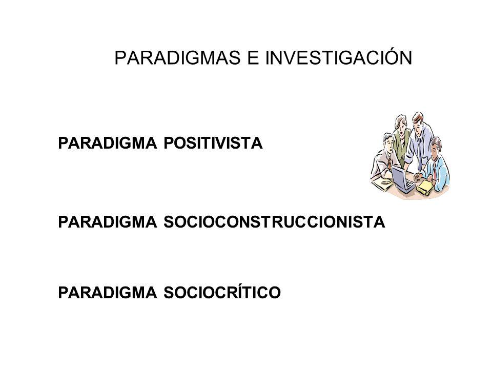 PARADIGMAS E INVESTIGACIÓN