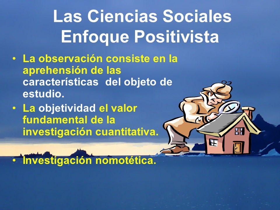 Las Ciencias Sociales Enfoque Positivista