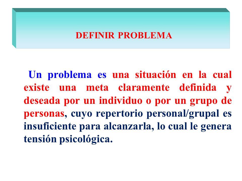 DEFINIR PROBLEMA