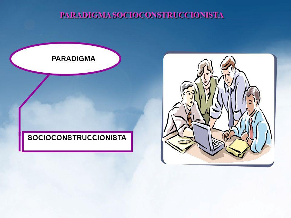 PARADIGMA SOCIOCONSTRUCCIONISTA SOCIOCONSTRUCCIONISTA