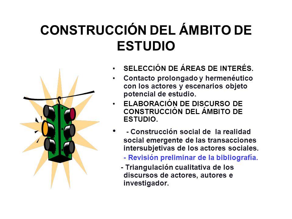 CONSTRUCCIÓN DEL ÁMBITO DE ESTUDIO