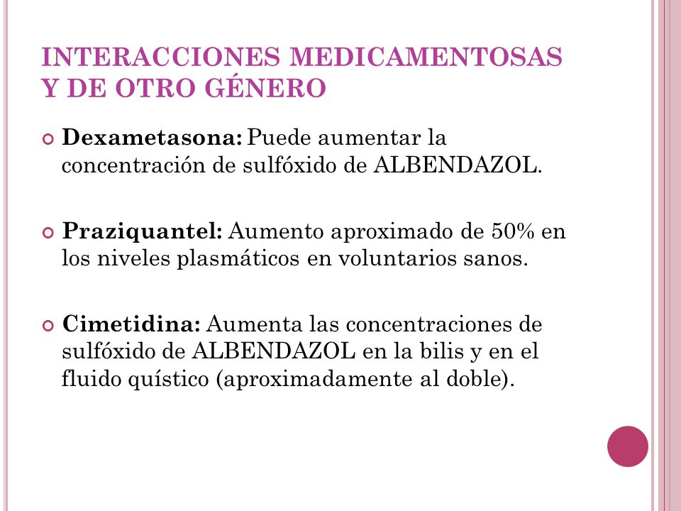 INTERACCIONES MEDICAMENTOSAS Y DE OTRO GÉNERO