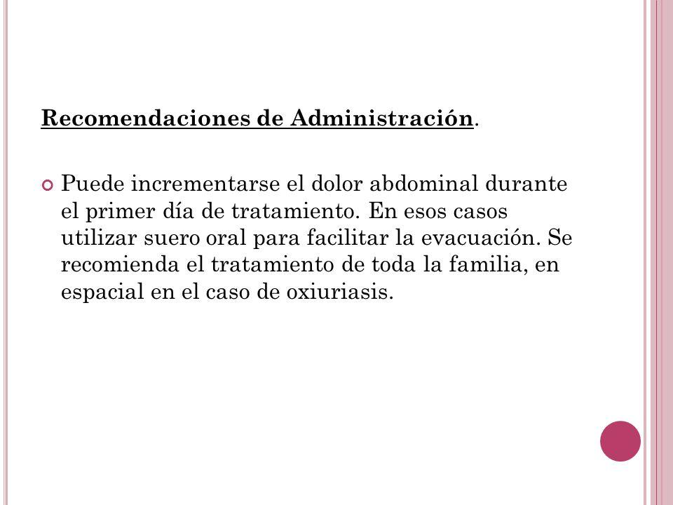 Recomendaciones de Administración.