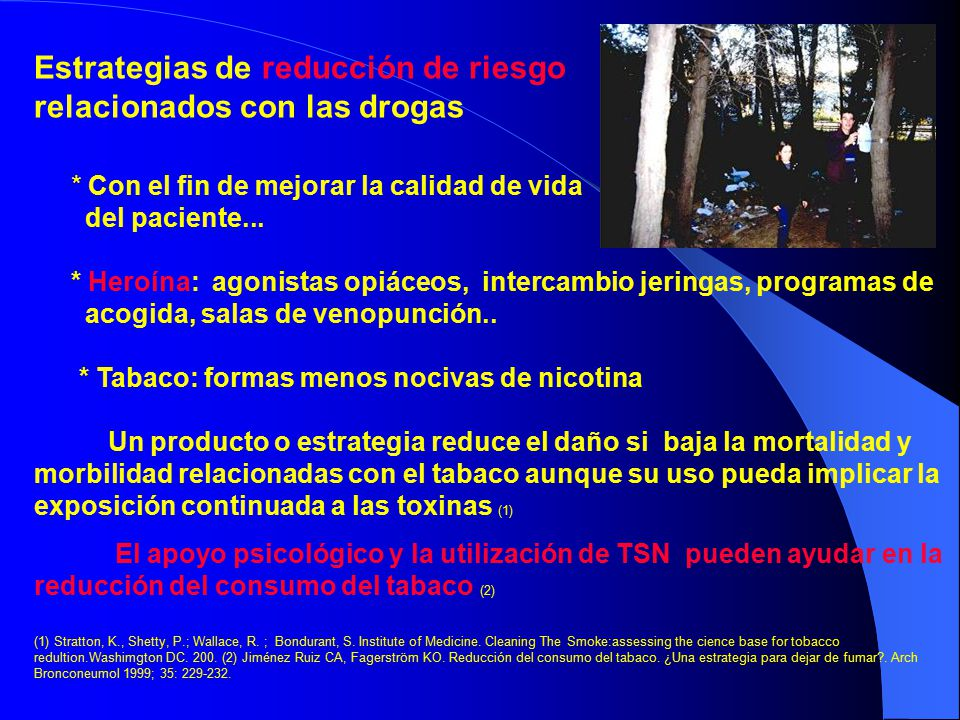 tabaco y heroÍna el tabaquismo en pacientes con dependencia a