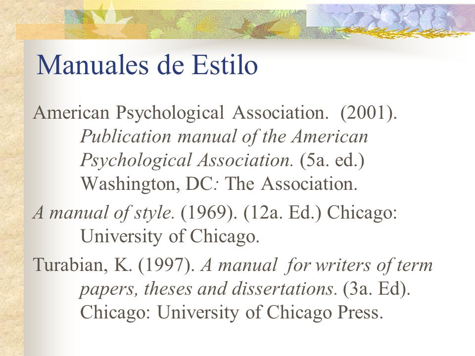 Manual For Writers Of Term Papers Theses And Dissertations