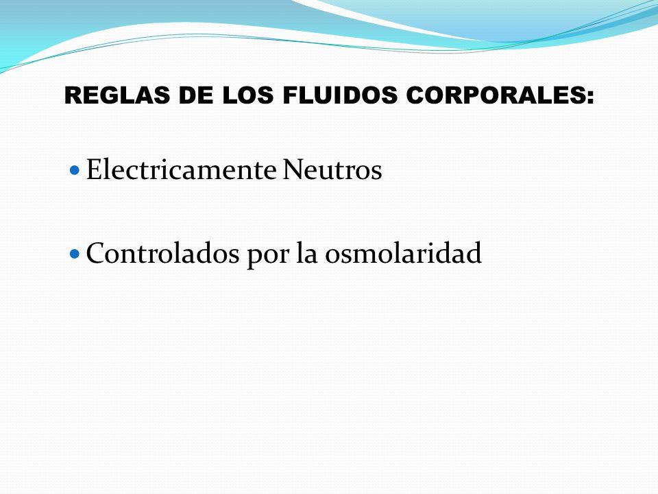 REGLAS DE LOS FLUIDOS CORPORALES: