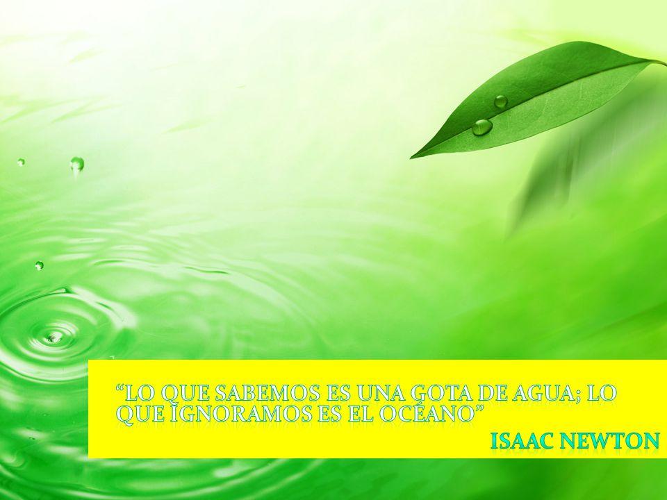 Lo que sabemos es una gota de agua; lo que ignoramos es el océano Isaac Newton