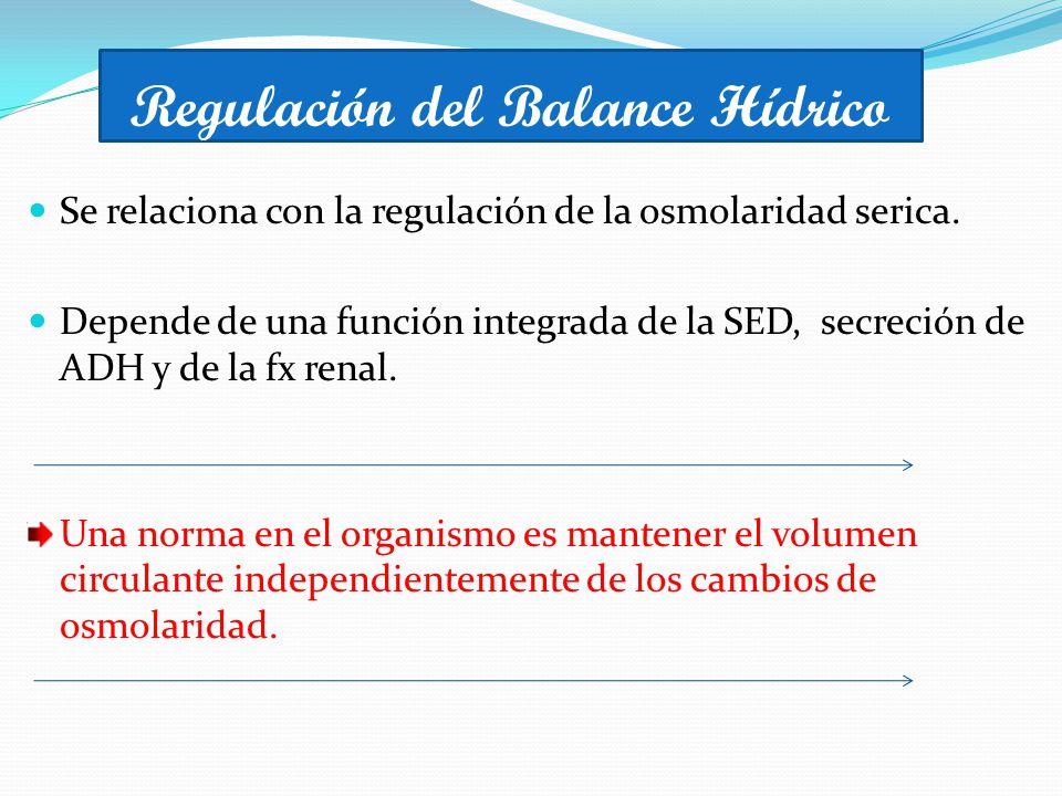 Regulación del Balance Hídrico