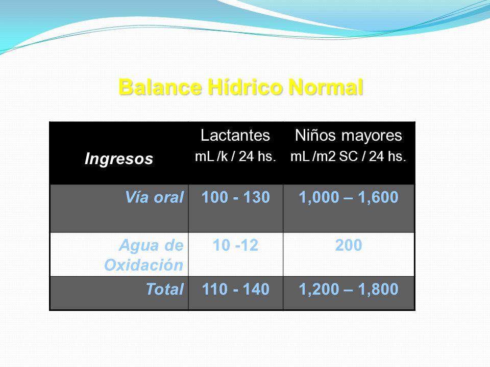 Balance Hídrico Normal