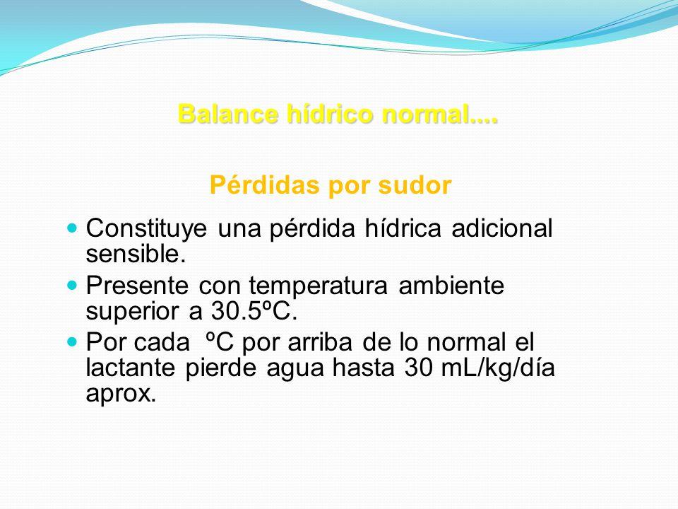 Balance hídrico normal....