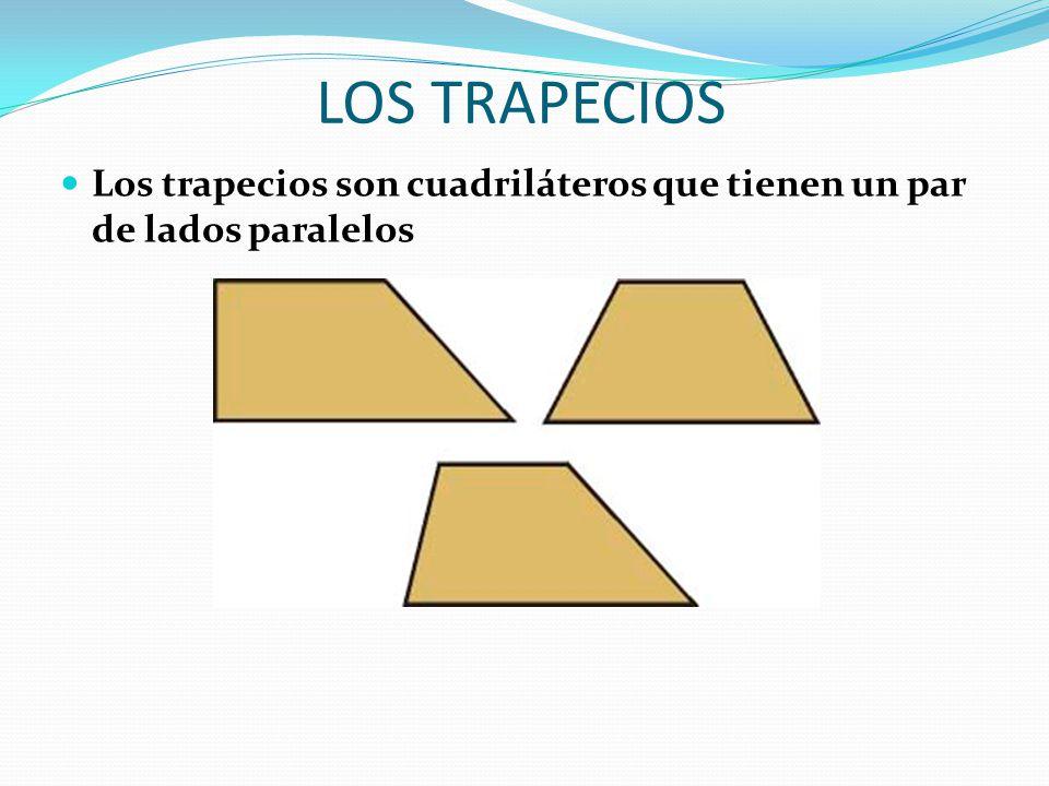 LOS TRAPECIOS Los trapecios son cuadriláteros que tienen un par de lados paralelos
