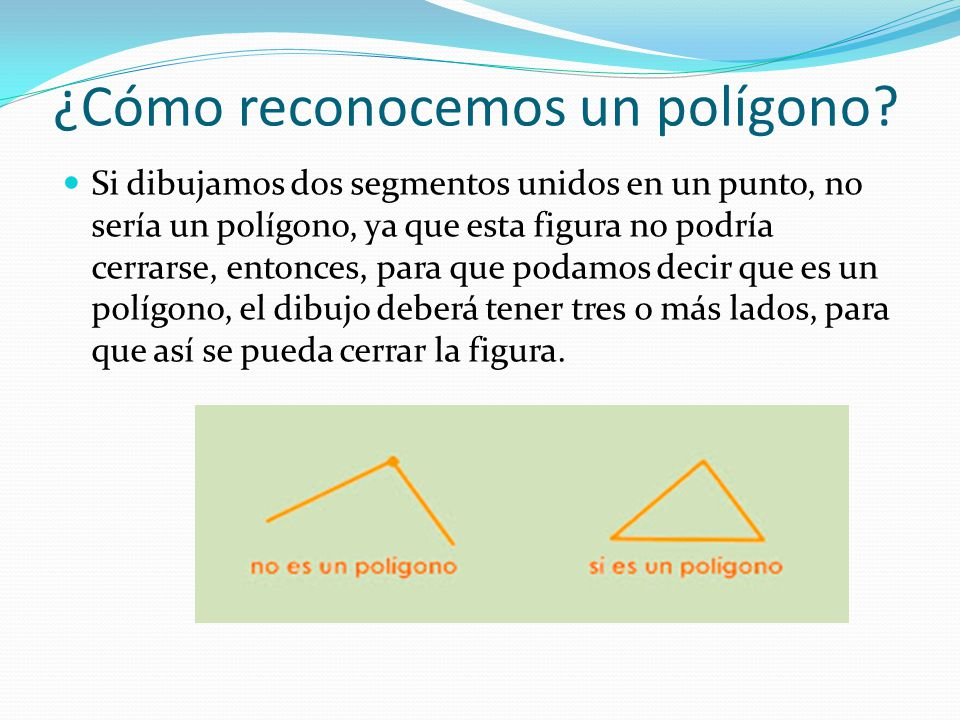 ¿Cómo reconocemos un polígono