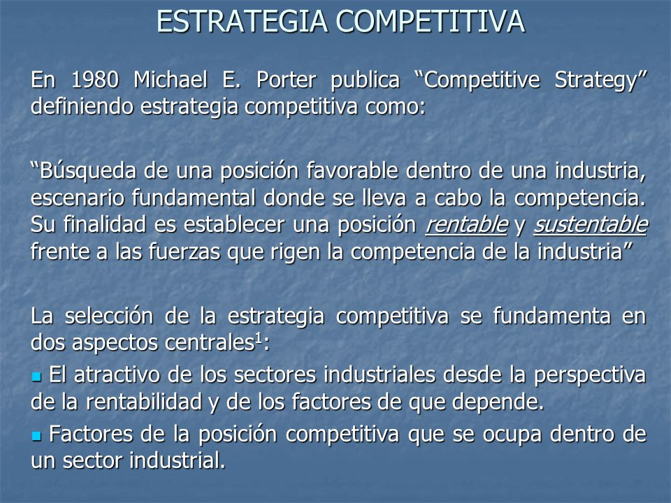 michael porter competitive strategy 1980 pdf
