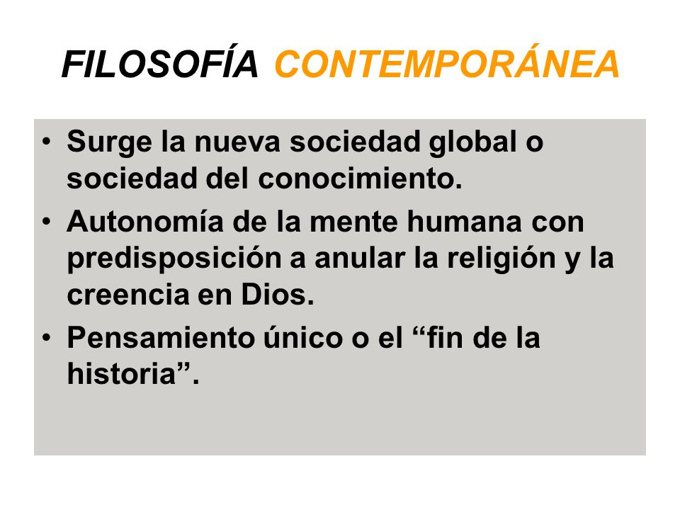 Evoluci n hist rica de la filosof a ppt video online for Caracteristicas de la contemporanea