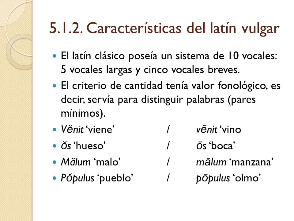 Vocales Largas En Latin 91