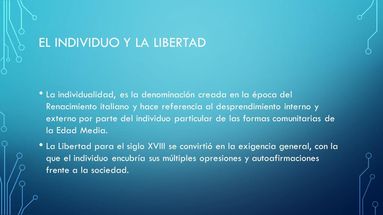El individuo y la libertad