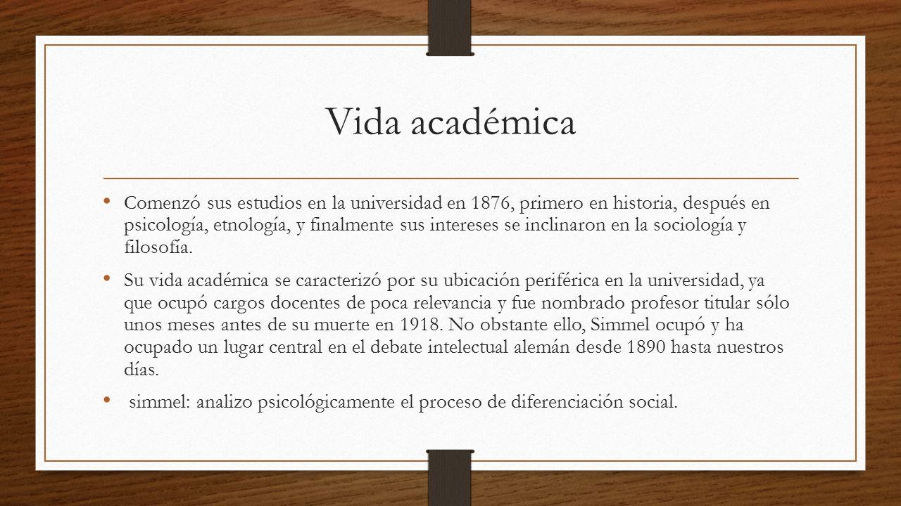 Vida académica
