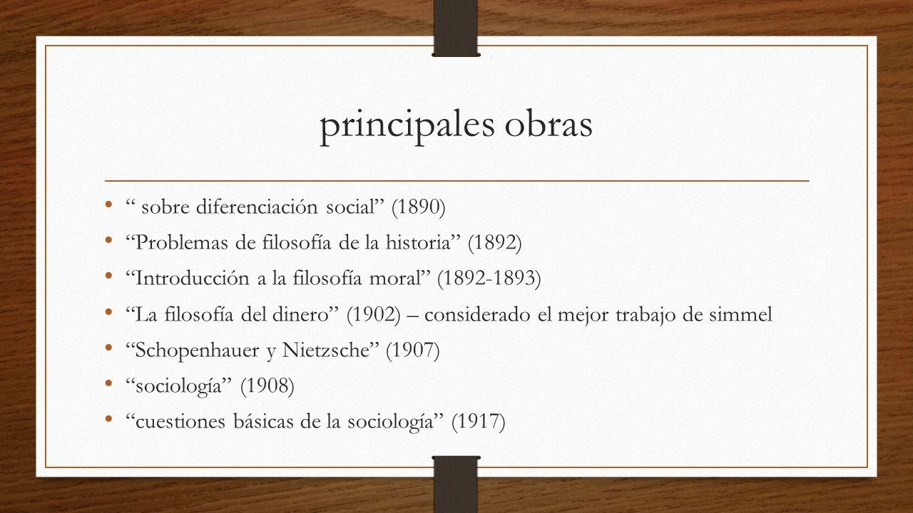 principales obras sobre diferenciación social (1890)