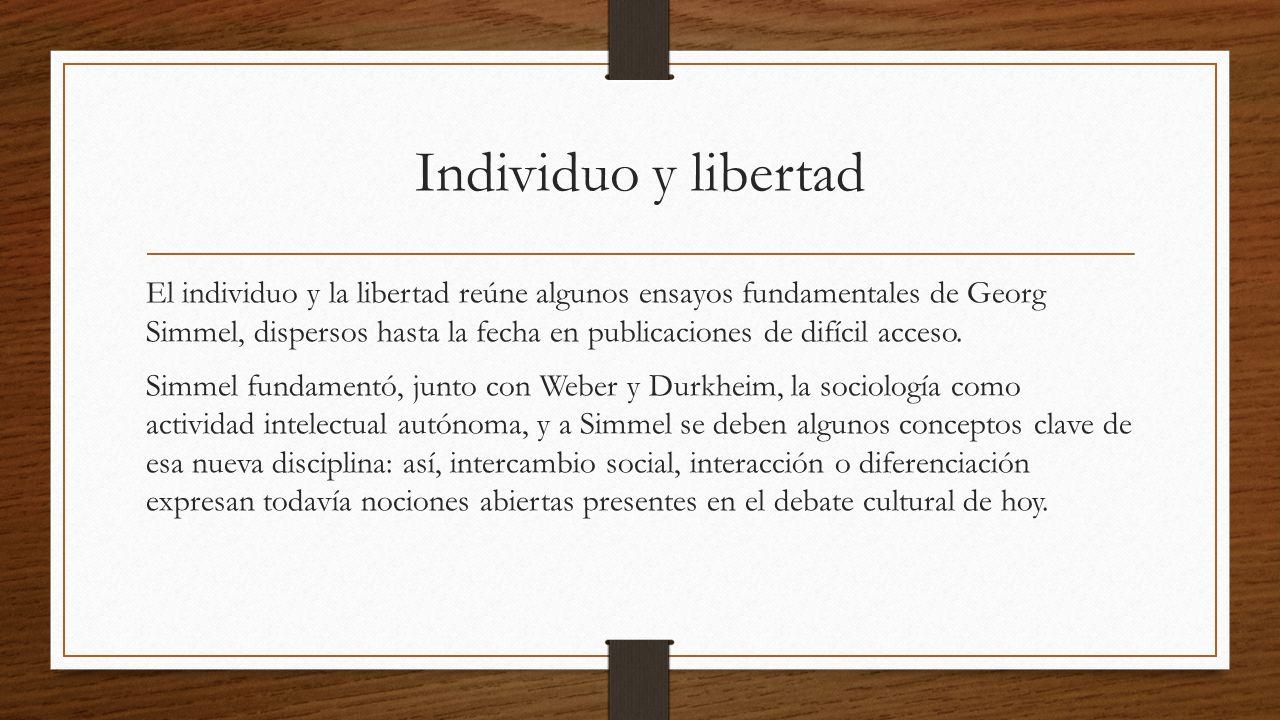 Individuo y libertad