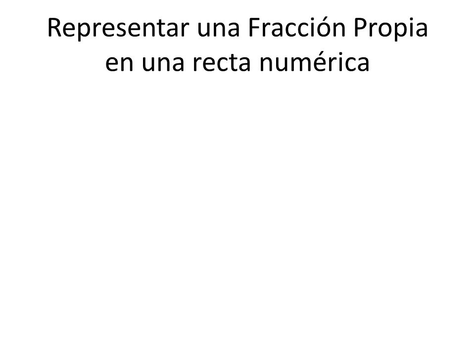 Representar una Fracción Propia en una recta numérica
