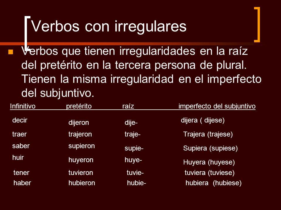 Verbos con irregulares