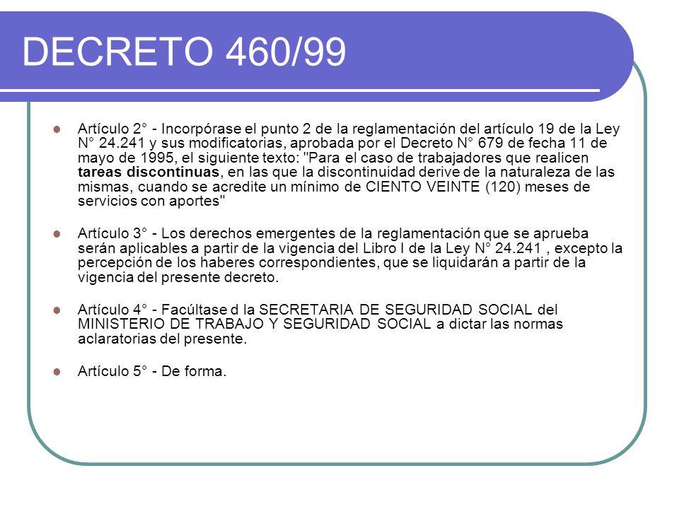 DECRETO 460/99