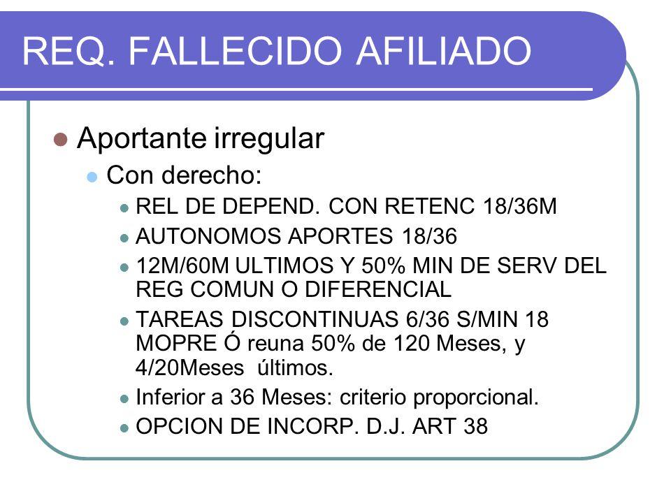 REQ. FALLECIDO AFILIADO