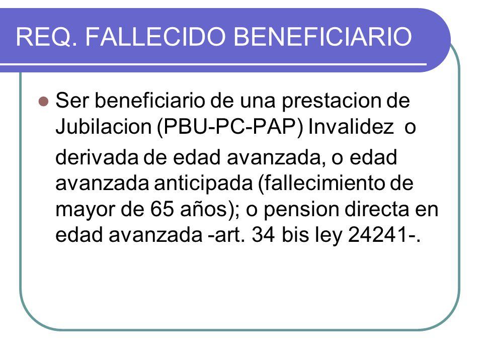 REQ. FALLECIDO BENEFICIARIO