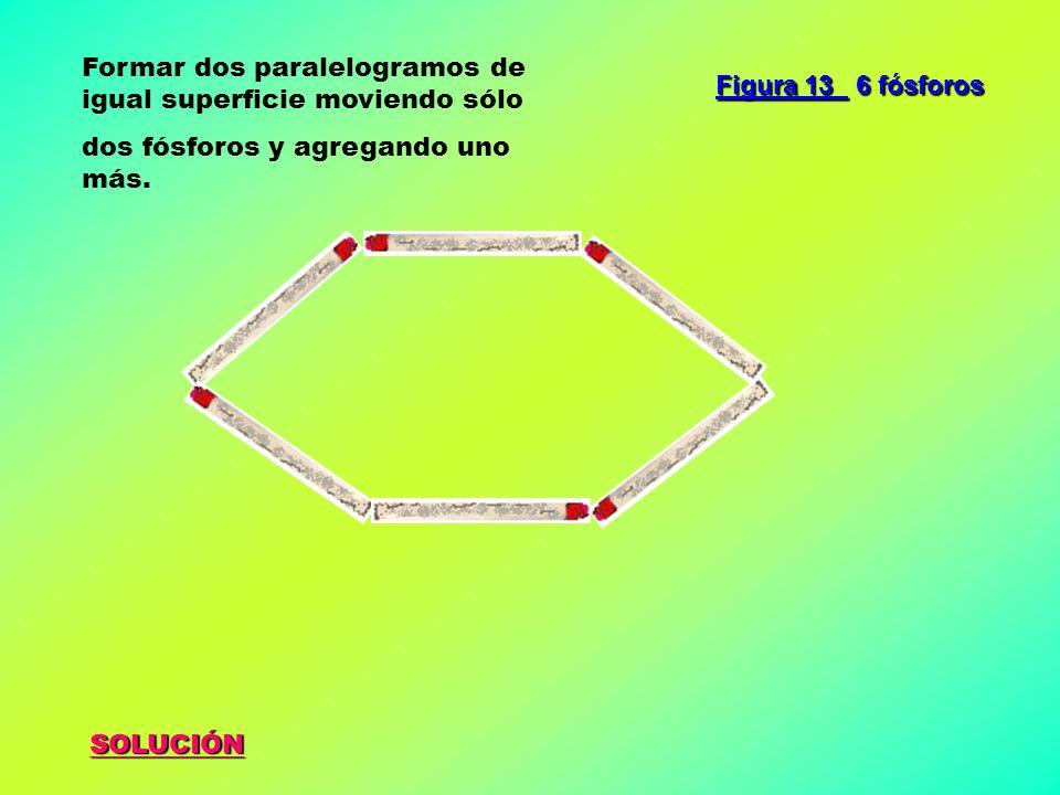 Formar dos paralelogramos de igual superficie moviendo sólo