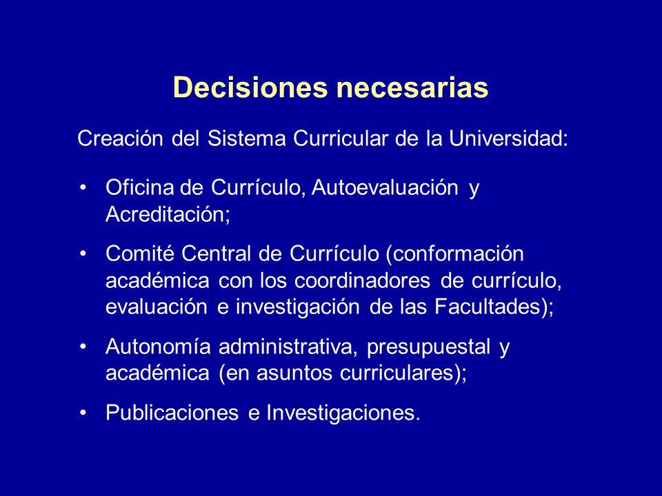 Decisiones necesarias