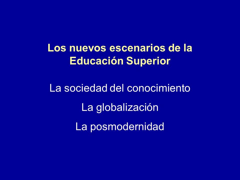 Los nuevos escenarios de la Educación Superior