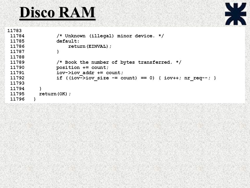 Disco RAM /* Unknown (illegal) minor device. */