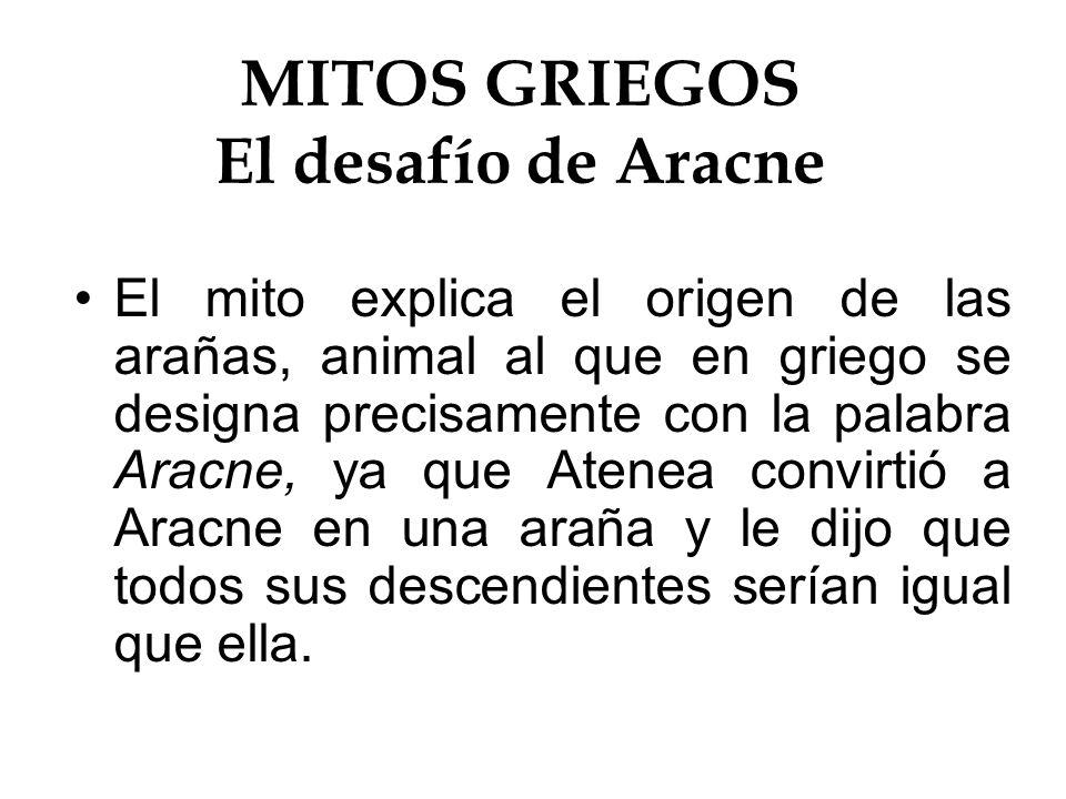 mitos griegos el desafo de aracne