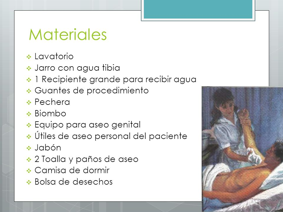 Materiales Lavatorio Jarro con agua tibia