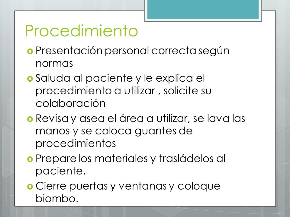 Procedimiento Presentación personal correcta según normas